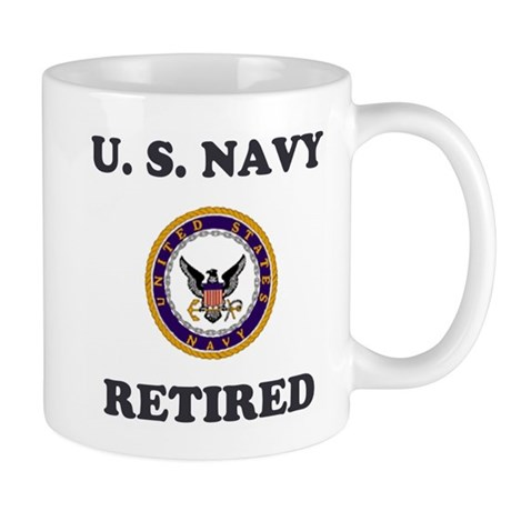 Retired Navy Coffee Cup