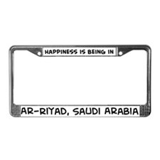 Happiness is Ar-Riyad License Plate Frame