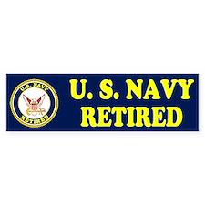 Retired Navy Bumper Bumper Sticker