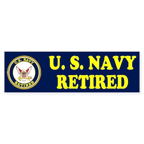 Retired Navy Bumper Sticker
