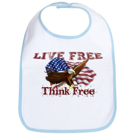 Live Free, Think Free Bib