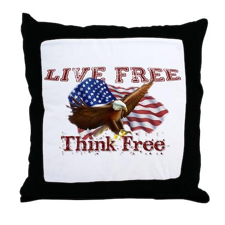 Live Free, Think Free Throw Pillow