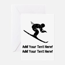Personalize It, Skier Greeting Cards (Pk of 10)