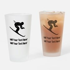 Personalize It, Skier Drinking Glass