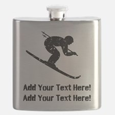 Personalize It, Skier Flask