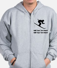 Personalize It, Skier Zip Hoodie