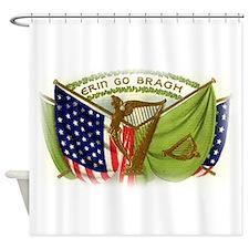 Erin Go Bragh Irish Flags Shower Curtain