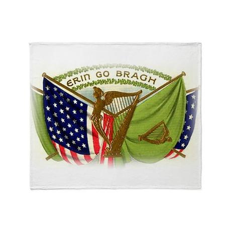 Erin Go Bragh Irish Flags Throw Blanket