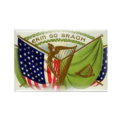 Erin Go Bragh Irish Flags Rectangle Magnet (10 pac