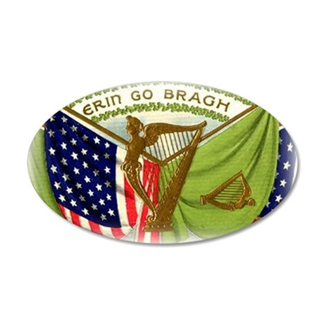 Erin Go Bragh Irish Flags Wall Decal