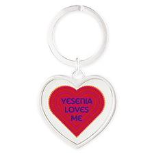Yesenia Loves Me Heart Keychain