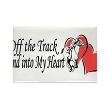 Off The Track LOVE Rectangle Magnet