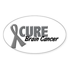 CURE Brain Cancer 1.2 Rectangle Decal