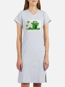 Vintage Green St Patricks Day Shamrock Hat Women's