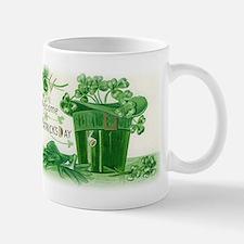Vintage Green St Patricks Day Shamrock Hat Mug