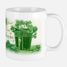 Vintage Green St Patricks Day Shamrock Hat Small Small Mug