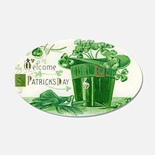 Vintage Green St Patricks Day Shamrock Hat Wall De