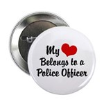 My Heart Belongs to a Police Officer Button
