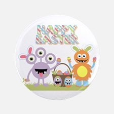 "Monster Happy Easter 3.5"" Button"