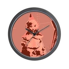 Vintage Red Riding Hood Wall Clock