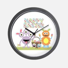 Monster Happy Easter Wall Clock