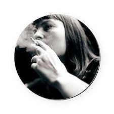 Woman smoking - Cork Coaster