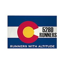 5280 Runners Rectangle Magnet