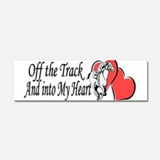 Off The Track and Into My Heart Car Magnet 10 x 3