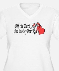Off The Track and Into My Heart Plus Size T-Shirt