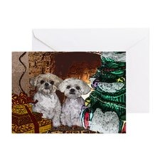 CardChristmasTreeCollageMuggsMattie Greeting Cards