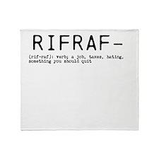 Rifraf Throw Blanket