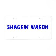 Shaggin Wagon Current Aluminum License Plate