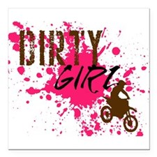 """Dirty Girl Square Car Magnet 3"""" x 3"""""""