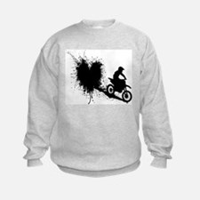 splatter heart Sweatshirt