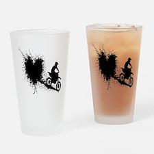 splatter heart Drinking Glass