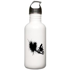 splatter heart Water Bottle
