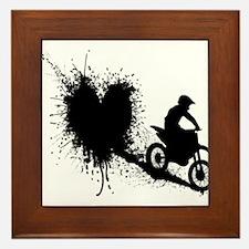 splatter heart Framed Tile