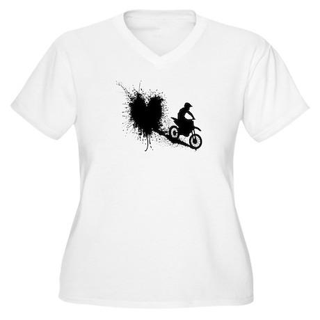 splatter heart Plus Size T-Shirt