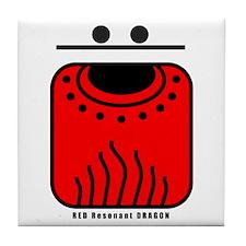 RED Resonant DRAGON Tile Coaster