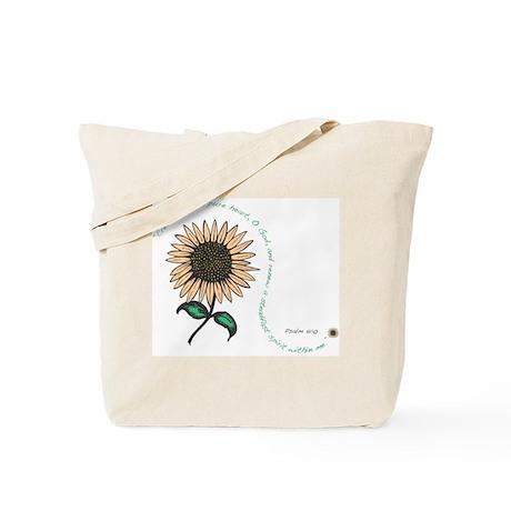 Create in me a pure heart Tote Bag