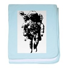 The Astronaut Moon Man baby blanket