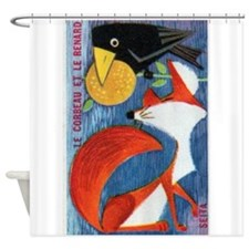 The Crow and The Fox French Matchbox Label Shower