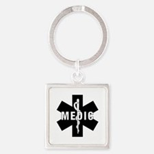 Medic EMS Star of L... Square Keychain
