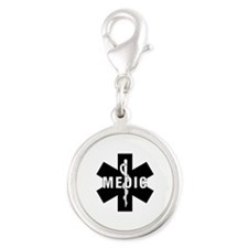 Medic EMS Star of L... Silver Round Charm