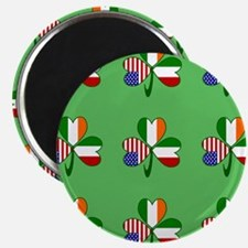 "Green Italian Shamrocks 9 2.25"" Magnet (10 pack)"