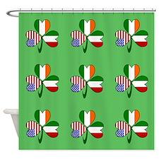 Green Italian Shamrocks 9 Shower Curtain