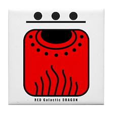 RED Galactic DRAGON Tile Coaster