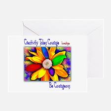 Creativity Flower Greeting Card