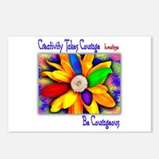 Creativity Flower Postcards (Package of 8)