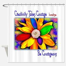 Creativity Flower Shower Curtain